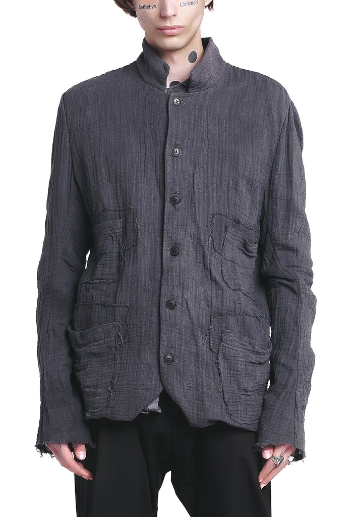 Raw-Cut Reversible Grey Jacket