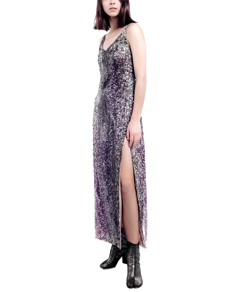 Hand-Painted Sequinned Maxi Dress