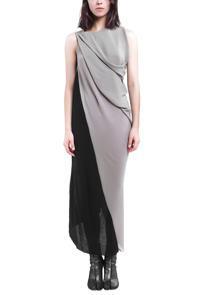 Contrast Drape Dress