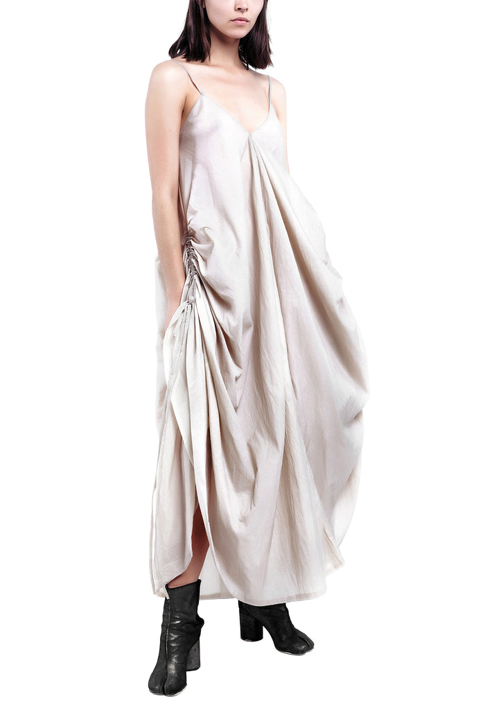 Hand-Painted V-Neck Drape Dress