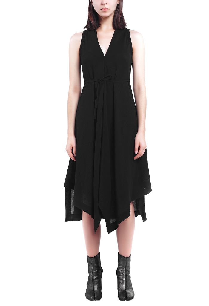 Tie-Waist Trapeze Dress
