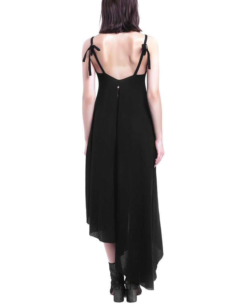 Long Open Back Asymmetric Dress