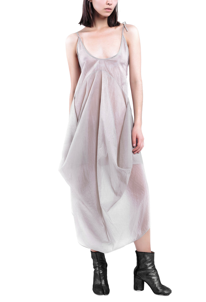 Hand-Painted Translucent Drape Dress