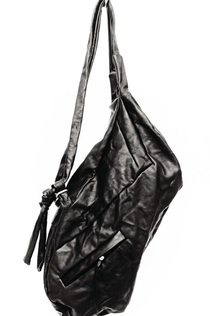 Large Zipped Leather Backpack
