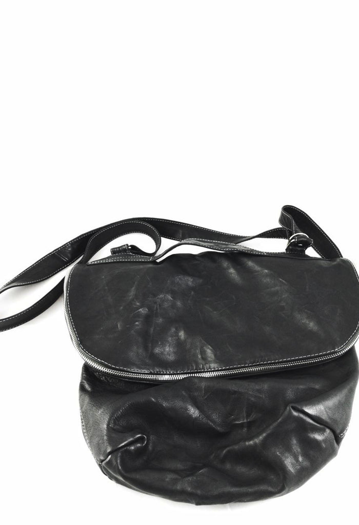 Large Leather Bag with Adjustable Strap