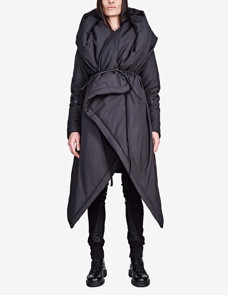 Wrap-Front Padded Coat