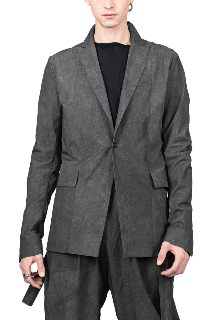 Textured Cotton Suit Jacket