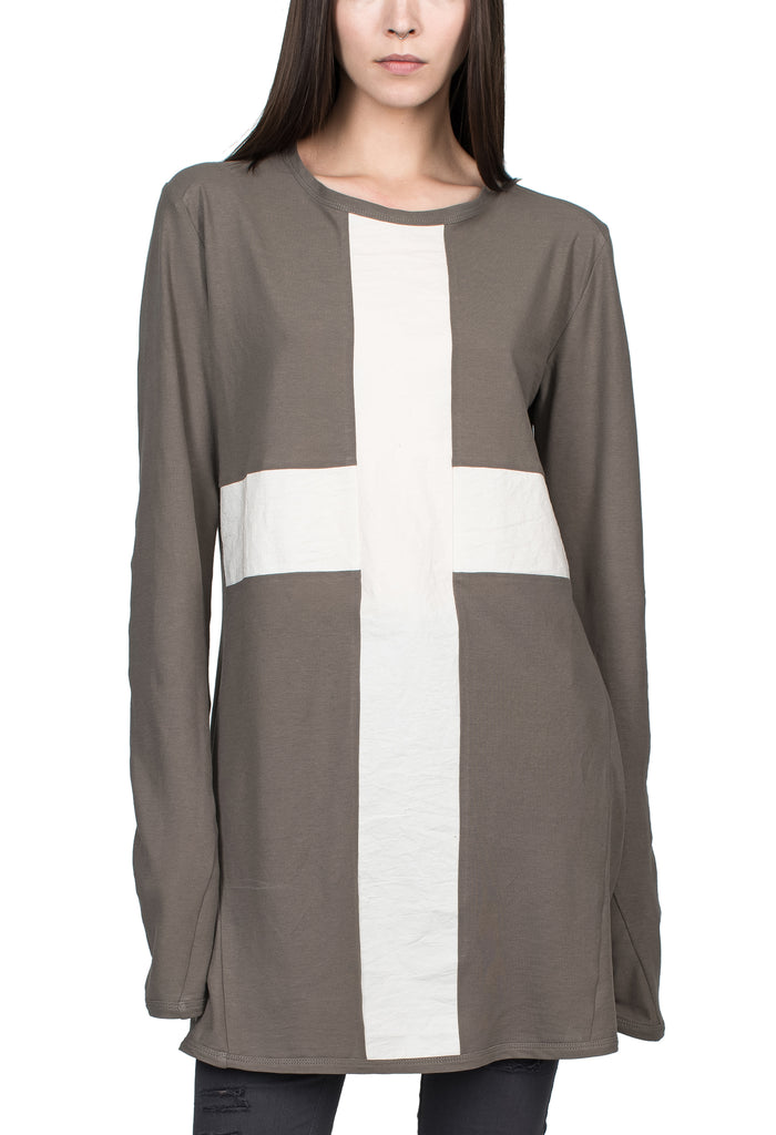Cross Panel Longsleeve T-Shirt