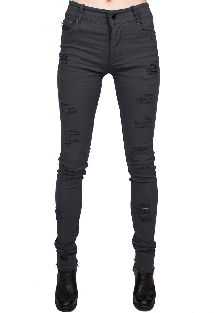 Distressed Grey Skinny Jeans