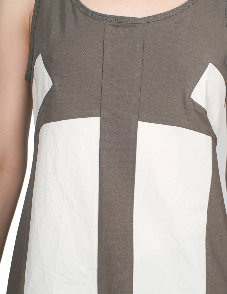 Graphic Paneled Tank Top