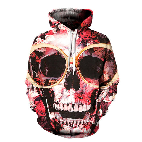 Over Tanned Skull Hoodie