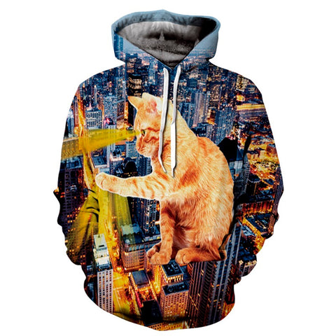 Attack of CatZilla Hoodie