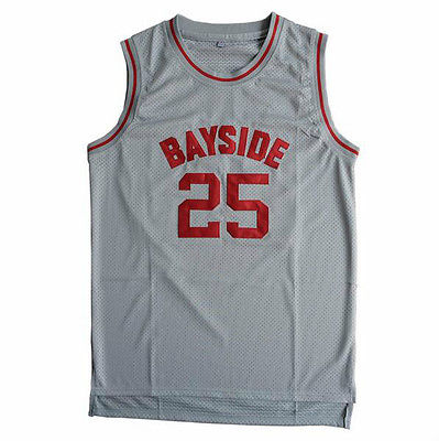 Save By The Bell Bayside Tigers Throwback Basketball Jersey #25