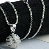 Stunning Basketball Urban Steel Necklace