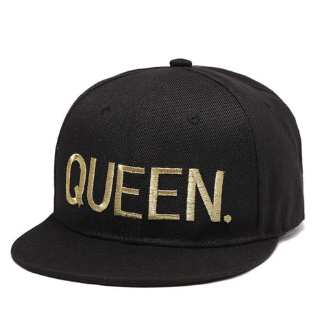 Gold QUEEN Embroided Snapback