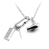 Hair Dresser Silver Pendant Necklace