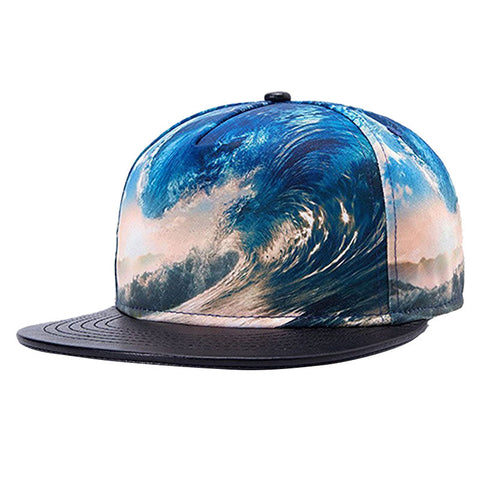 Blue Sea Waves Snapback