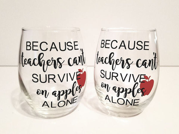 Teacher's Wine Glass