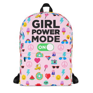 Girl Power Mode On Backpack