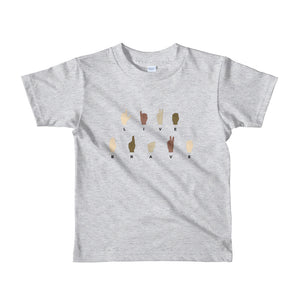 Live Brave Little Girls' T-Shirt Created by LiveGirl