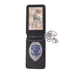 Rothco NYPD Style Leather Badge Holder w/ Clip
