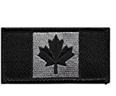 Canadian Flag - Black and Grey