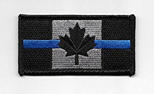 Canadian Flag w Blue Line