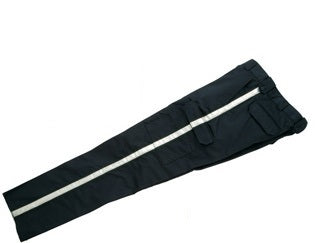 Black Tactical Cargo Pants with Reflective Stripe
