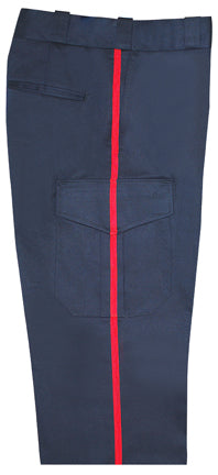 Elbeco - Navy Blue Cargo Pants with Red Stripe - Women's