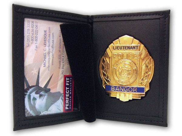 Dress Leather Badge and ID Case