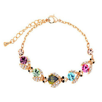 Colorful Rhinestone Bracelet