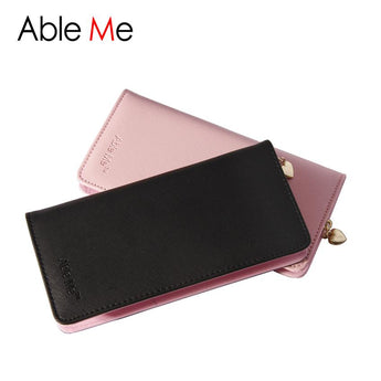 Famous Brand PU Leather Wallet Women Purse Money Card Holder Sweetheart Zip Ladies Wallet Female