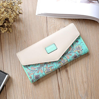 Zipper Leather Wallet Female Women Purse  Famous Brand