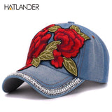2017 Embroidery Rose baseball luxury vintage Ladies baseball cap