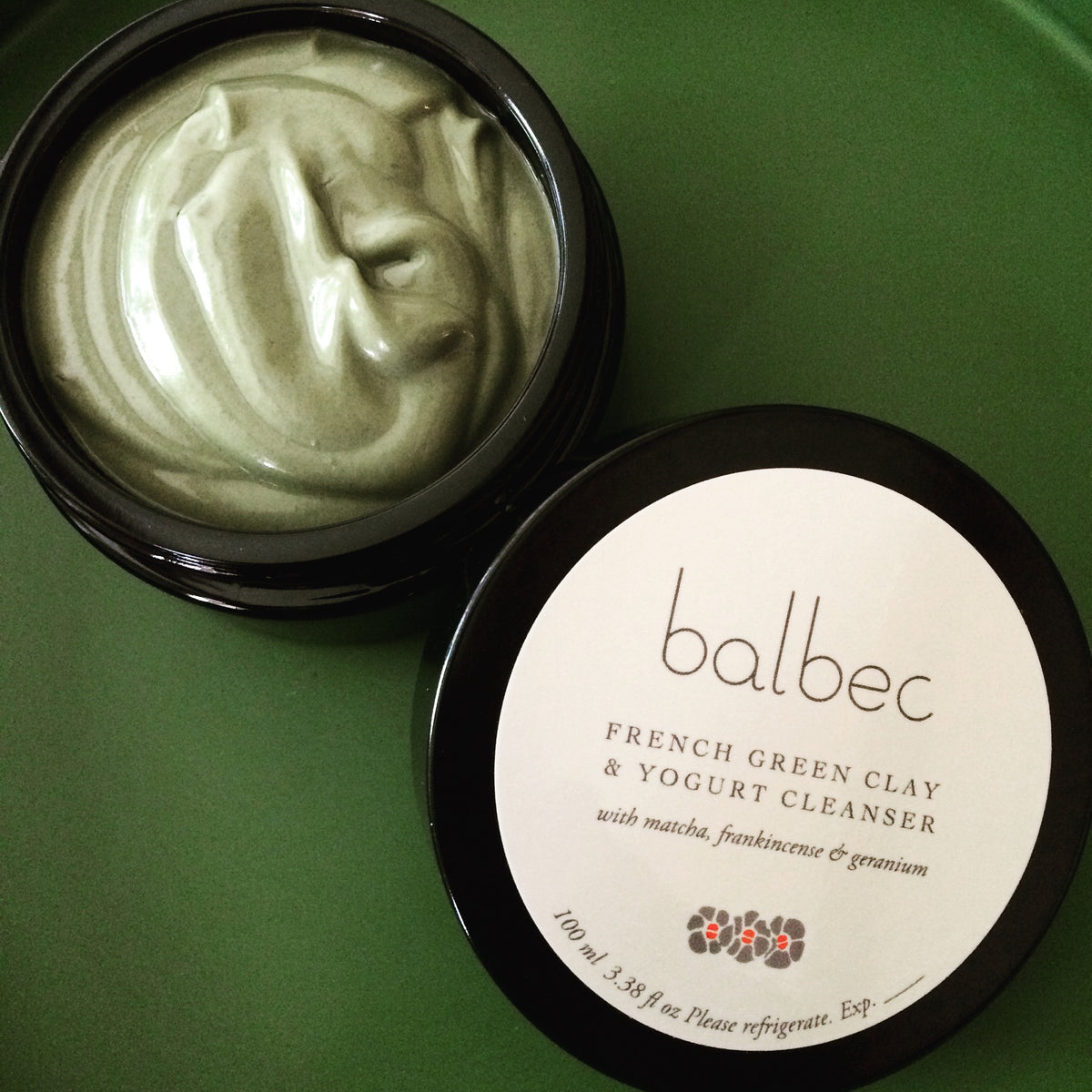 Balbec beauty: French Green Clay and Yogurt Cleanse with Matcha, Frankincense, & Geranium. A perfect cleanse. Our fresh. aromatherapeutic, probiotic clay and yogurt cleansers help detoxify, nourish, and hydrate your skin. This is lush, slow beauty.