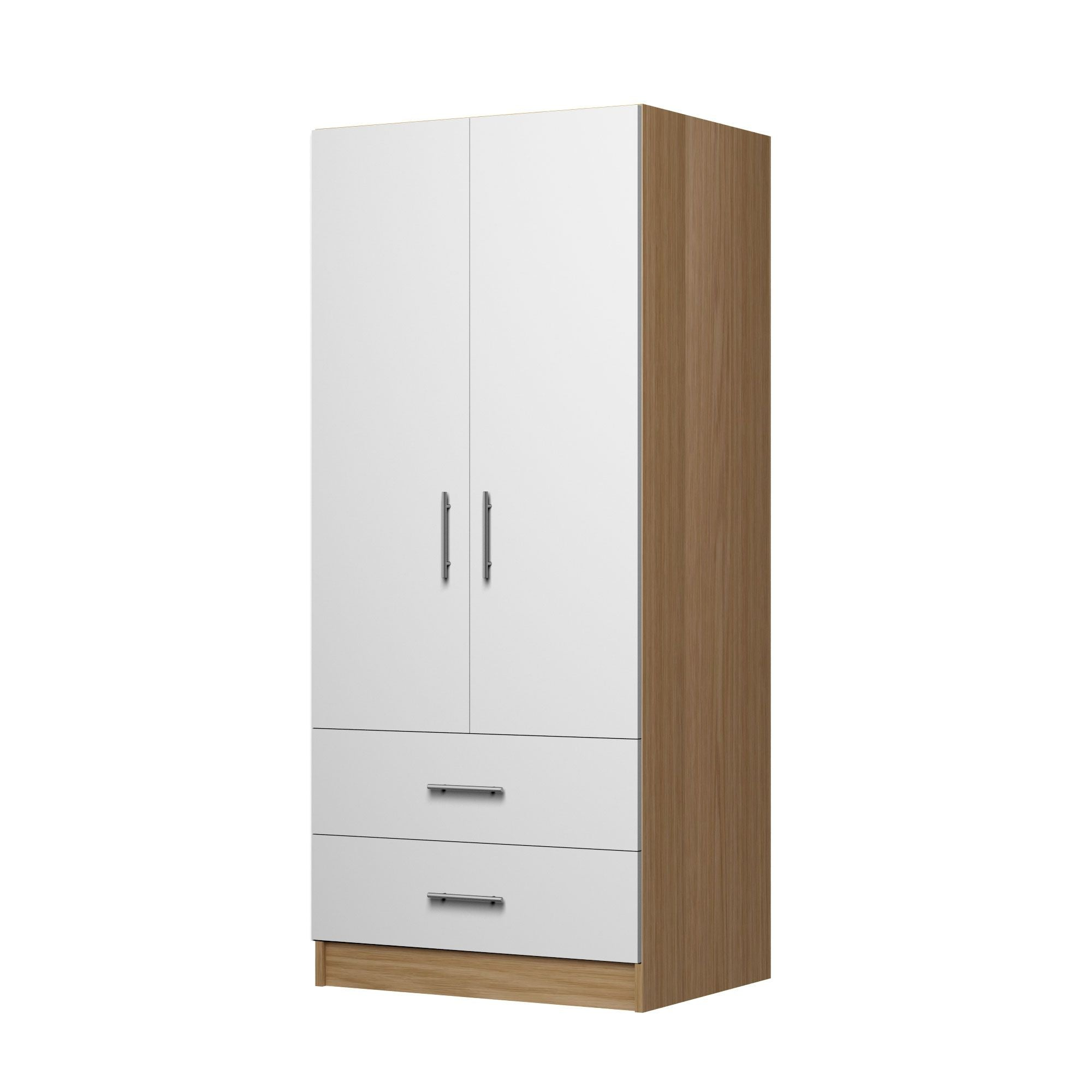 2 Door Wardrobe with 2 Drawers