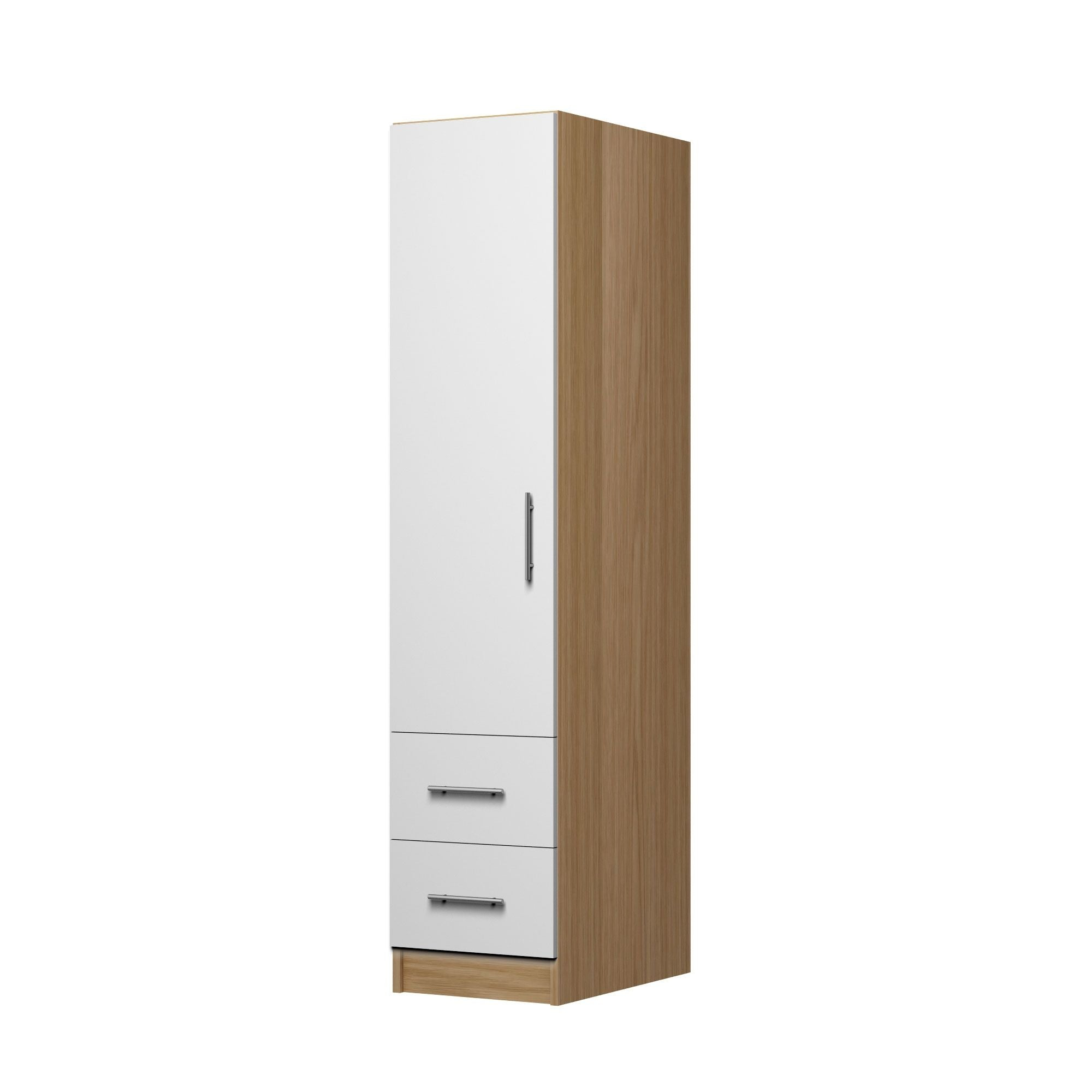 1 Door Wardrobe with 2 Drawers