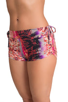 Side String Shorts Mayan Print