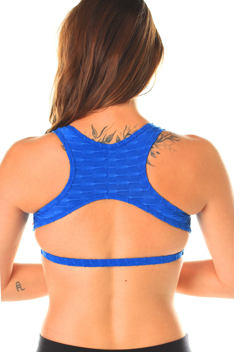 Bridge Back Top Royal Blue, Textured Coolform