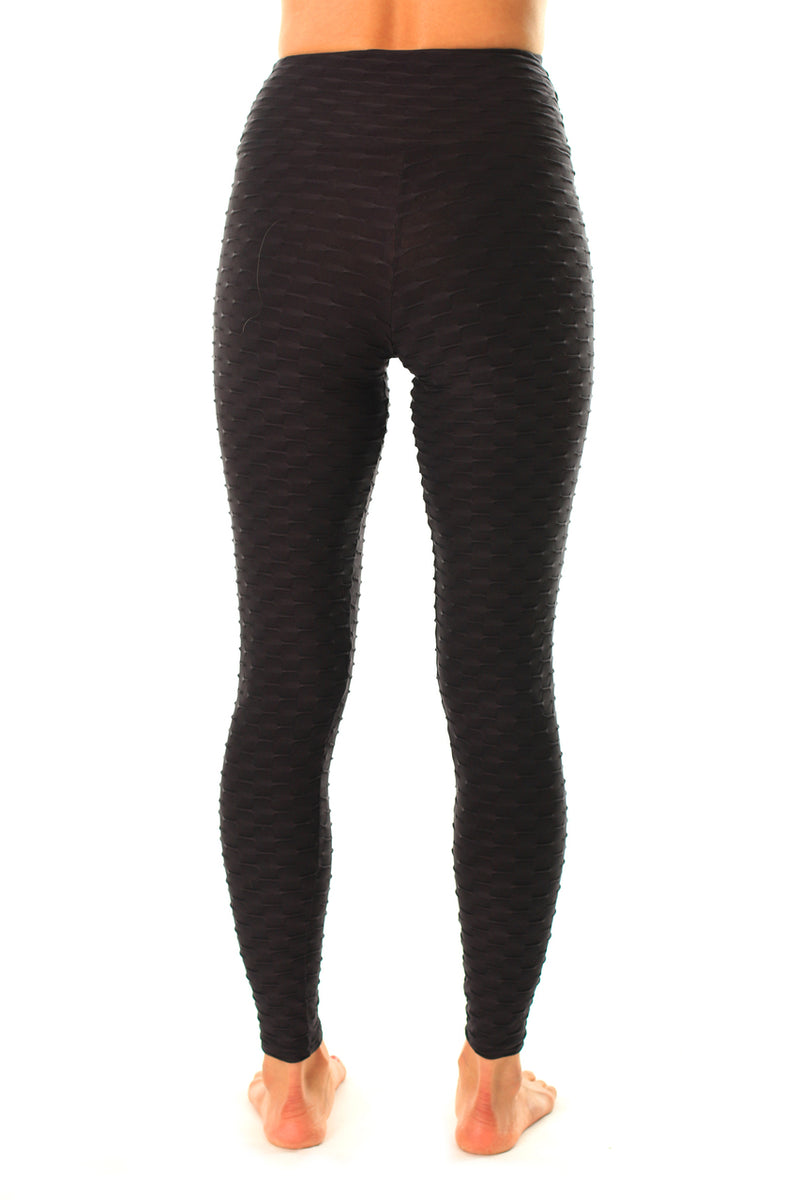 Mid-Rise Legging Black, Textured Coolform light