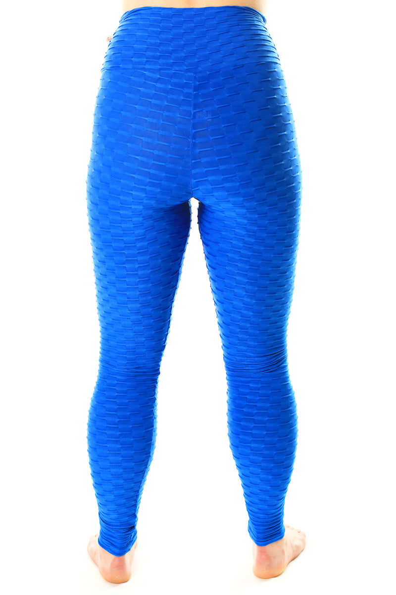 Mid-Rise Legging Royal Blue, Textured Coolform