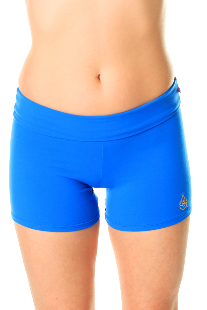 Mid-Rise Shorts Royal Blue