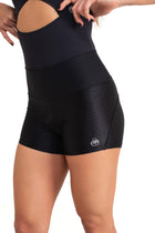 Maya Shorts, Black with Textured Details