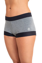 Hanuman Shorts, Gray with Shiny Trim