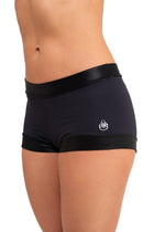 Hanuman Shorts, Black with Shiny Trim
