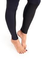 Durga  Leggings, Black With Shiny  Details