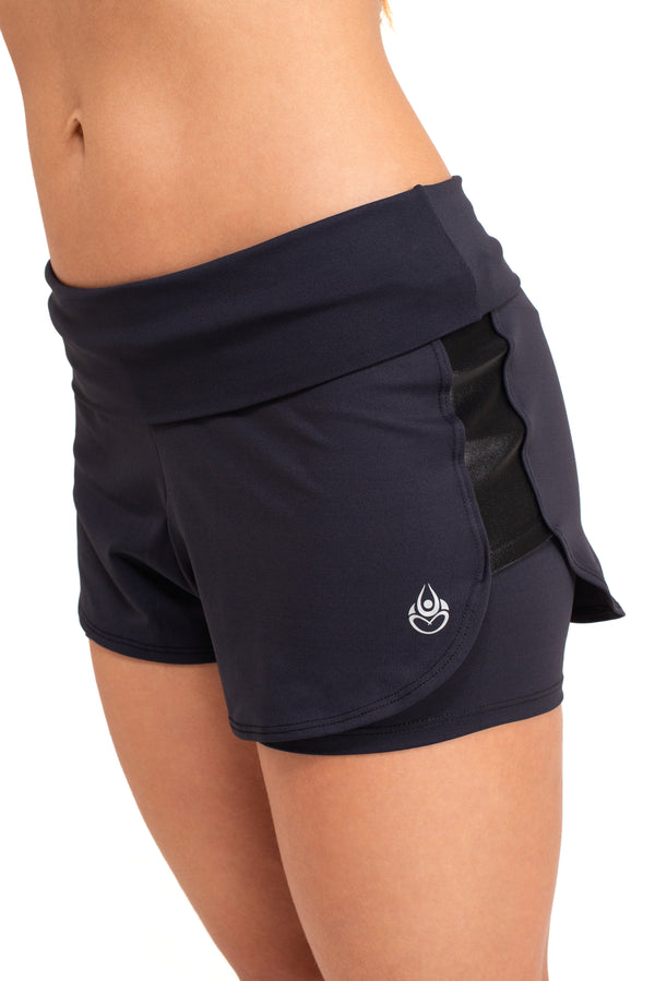 Parvati  Running Shorts, Black