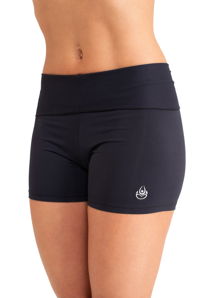Super Comfy  Shorts, Black Coolform Light ( Fold Over)