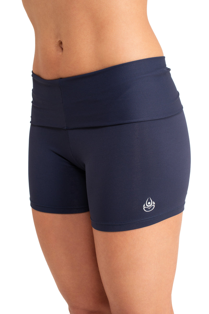 Super Comfy  Shorts, Navy Coolform Light ( Fold Over)