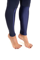 Durga  Leggings, Navy Blue With Shiny Detail